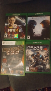 Grand theft auto 5, halo 5, gears of war 4  xbox one bundle