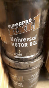 10W Clearance - 7 NEW PAILS OF UNIVERSAL MOTOR OIL - $25.00