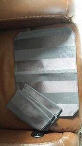 4 NEW Black 2 Tone Placemats with Matching Napkins Kawartha Lakes Peterborough Area image 2