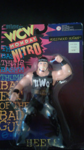 2 Diff. WCW Hollywood Hogan MOC Wrestling Action Figures