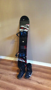 K2 Snowboard w Flow Bindings and Ride Boots