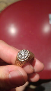 bague 18k diamants SI1