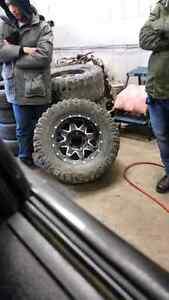 """17"""" mayhem Chevy  bolt universal rims and Mickey Thomson tires"""