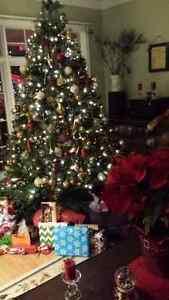 Beautiful pre-lit Christmas tree for sale