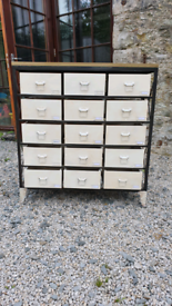 Industrial chest of draws / craft / office contemporary furniture