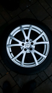 245/45/18 pneu tire hiver winter + 18 inches pouces wheels mags
