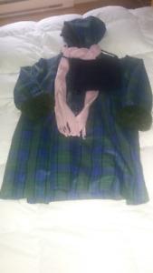 Manteau long d'hiver pour fille, 4T