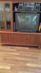 TV BOOKCASE ENTERTAINMENT CENTER WALL UNIT