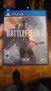 Battlefield 1 ps4 tres bonne etat(jouer 2 fois seulement)50$