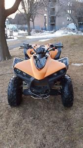 4 roue 4x4 500cc 2010 cherche echange ou $