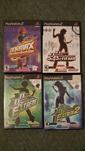 PS2 Dance Dance Revolution games + pads, Wii Gamecube dance pads