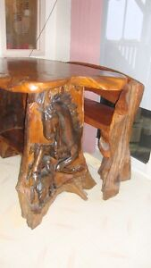 Priced Reduced - Horse lovers Table. Chairs & Bench
