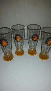 SHOCK TOP BELGIAN ALE BEER PILSNER GLASS SET 4