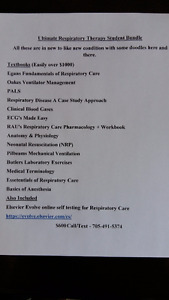 Lots of Respiratory Therapy Textbooks