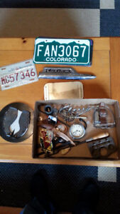 VINTAGE TRAY LOT OF INTERESTING ITEMS