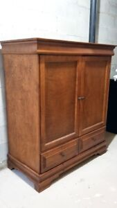 Solid wood entertainment unit - Priced for quick sale