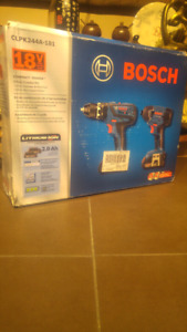 New 18v Bosch Hammer  Drill/ Hex Impact Set