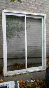 Glass Sliding Patio door 59 x 79.5in