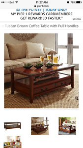 Pier one coffee table mango wood