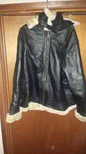 Mens NWT Leather Lined Jacket 2xl