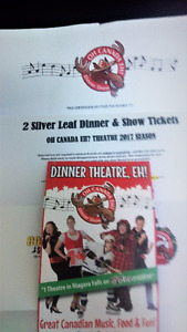 2 Silver Leaf Dinner and show tickets