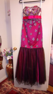 Prom/Graduation dress hotpink/black