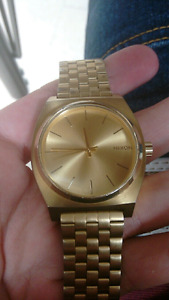 Nixon time teller gold dipped watch
