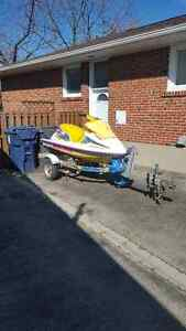 Trade 2 single seadoo trailers for a double trailer