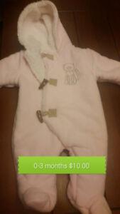 Infant Girl's Snowsuit