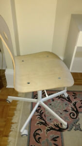 Ikea office/desk swivel chair white  birch veneer like new