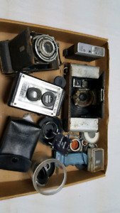 Vintage camera bits and pieces cheap $30