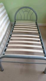Children's single metal bed frame