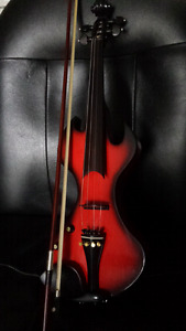 Electric Violin with bow and case