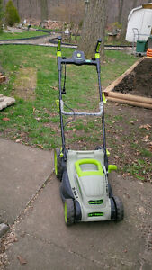 """LawnMaster MEB 1014 15""""/38cm 2-IN-1 ELECTRIC LAWN MOWER  JUST S"""