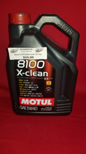 MOTUL 5W40 XCLEAN FULLY SYNTHETIC OIL 5LITRE -SCARBORO SALE