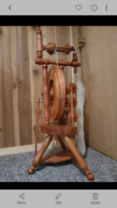 Authentic Stamped Wee Peggy Spinning Wheel