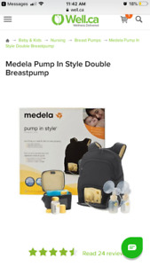 Medela 'pump in style' double breast pump - lightly used