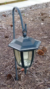 Set of 7 solar outdoor lamps