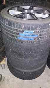 Winter tire package  mitsubishi with sensors 235/45/18 Strathcona County Edmonton Area image 1