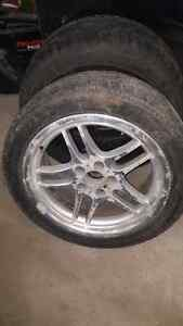 2 winter tires 235/45/R18 and  245/45/R18 West Island Greater Montréal image 3