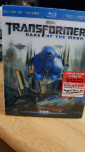 TRANSFORMERS DARK OF THE MOON 3D BLURAY DVD COMBO NEW