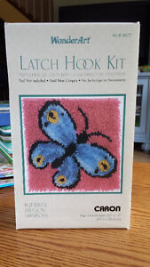 Latch Hooking Kit - Only 1 piece of yarn was attached ... New!