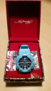 Youth/ Boys Ed Hardy Watch (Blue Face/Blue Rubber Band)