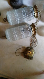 Retro Vintage Antique double chandelier