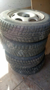 Studded 14 inch tires