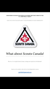 What about Scouts Canada!