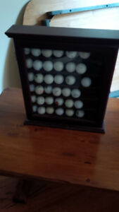 cherry wood golf ball display case