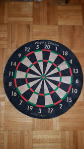 Vintage Sportcraft Player's Choice Bristle Dartboard
