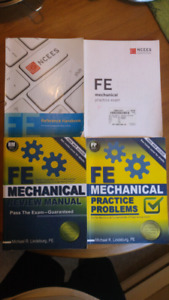 FE Mechanical NCEES reviewers and reference books