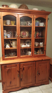 China Cabinet Custom Pine - Great Deal REDUCED!